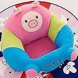 Kanemt ベビーソファ 綿 赤ちゃん 安全保護 ベビーチェア 可愛い 柔らかい 豚 S