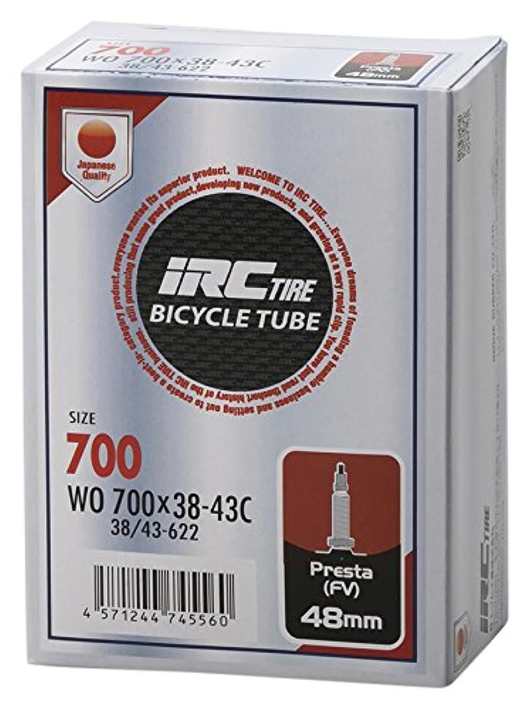 何黒くする調停するIRC BICYCLE TUBE 700X38-43C 仏式48mmバルブ 28969J