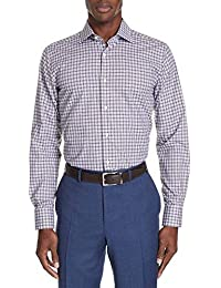 (カナーリ) CANALI メンズ トップス シャツ Regular Fit Plaid Dress Shirt [並行輸入品]