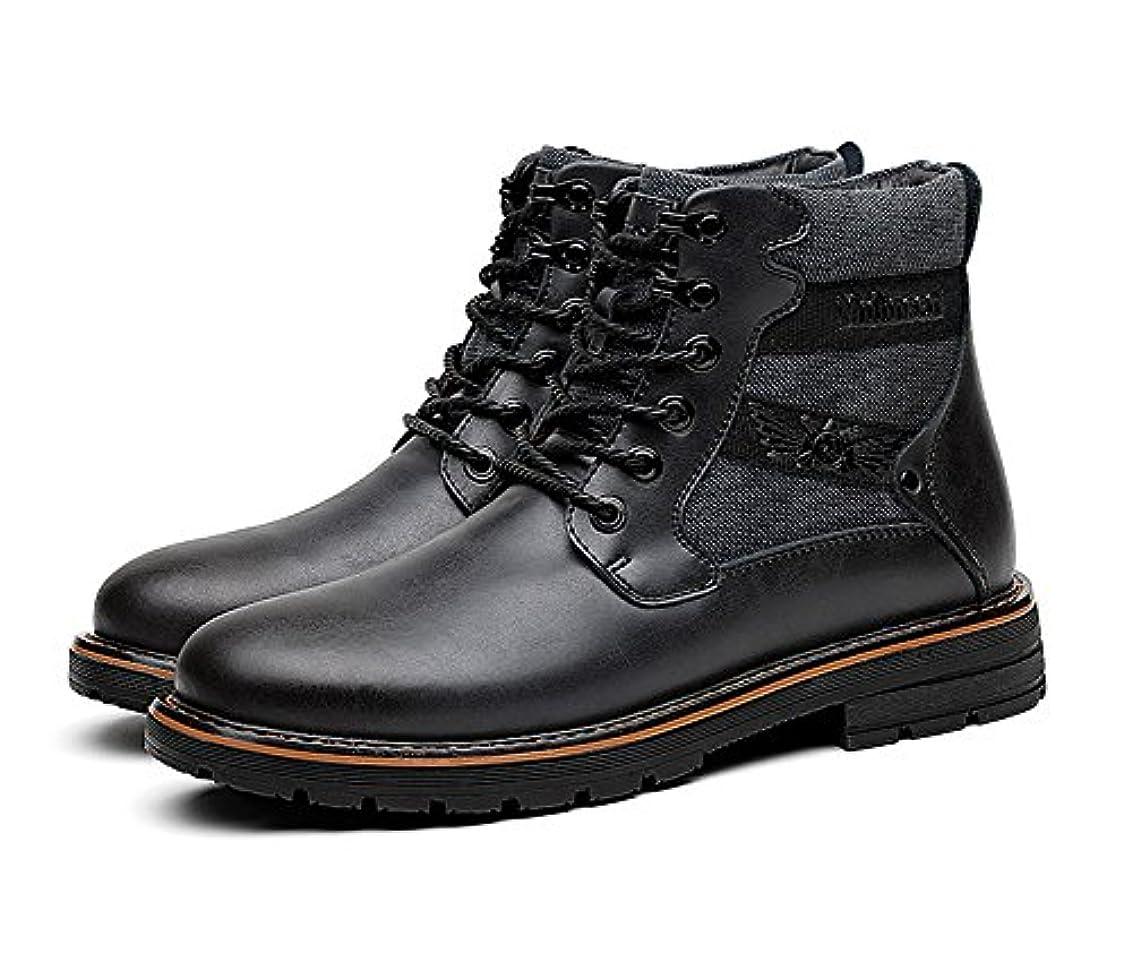 泥だらけ花瓶スペル[間靴のお店があります] メンズ ブーツ マーティンブーツ エンジニアブーツ ショ防水 滑り止め本物の革マーティンブーツカジュアルブーツ綿靴