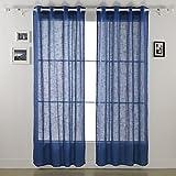 Best ホームカーテンSheers - Deconovo Grommet Top Curtains Linen Sheers Window Sheers Review