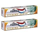 Aquafresh Extreme Clean Fresh Mint Toothpaste Pure Breath Action 158g x 2P/アクアフレッシュエクストリームクリーンフレッシュミントティッシュペーストピュアブレスアクション