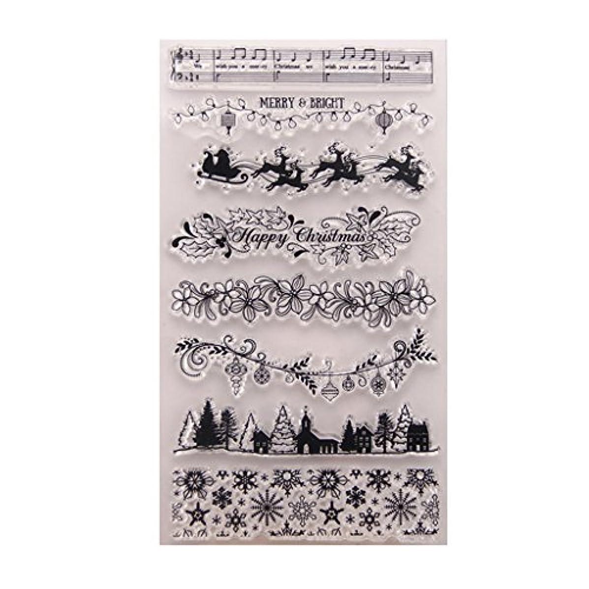 評決そこから財布Baoyouls クリスマスツリー透明クリエイティブバッジ画像ラバースタンプシールDIYアルバムクラフトスクラップブックデコレーション、カレンダー