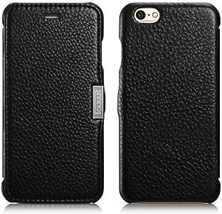 iPhone 6 /iPhone 6S専用 本革採用 手帳型ケース(MIP-602BK)