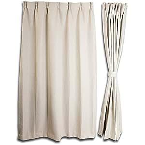 ネル遮光カーテン 1級遮光遮熱ベージュ BE 幅100cm 丈220cm 2枚入 VT9510-W100-H220-2P