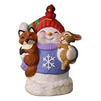 Hallmark Keepsake 2017 Snow Buddies 20th Anniversary Snowman Fox and Squirrel Christmas Ornament 【Creative Arts】 [並行輸入品]