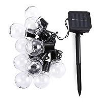 LEDイルミネーションライト、SIMPLE DO 30球 ストリングライト ソーラー充電式 可愛くて小さなボールライト 飾り ワイヤーライト 防水 キャンプ用 パーティー電飾(ウォームホワイト)