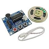 EasyWordMall ISD1820 音声録音モジュール レコーダー 付き マイク サウンドオーディオスピーカー 拡声器