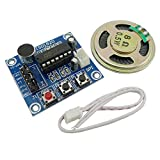 KKHMF ISD1820 音声録音モジュール レコーダー 付き マイク サウンドオーディオスピーカー 拡声器