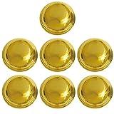 ベルアート メタルボタン (ABS) 15mm 7個入 Col.G ゴールド AZMT-0726
