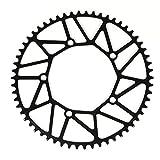 Docooler バイク サイクリング 自転車 ホローチェーンシングルクランクホイール バイククランクホイールクランクセット 折りたたみ式 BCD 130MM 5穴クランクセット 50T / 52T / 54T / 56T / 58T