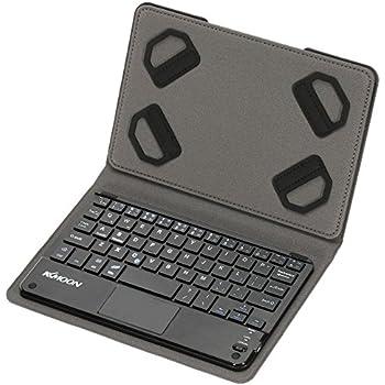 KKmoon 59キー 超薄型 ミニ Bluetoothキーボード 折りたたみ磁気PUレザーケース付き Android Windows PCタブレッ ト スマートフォン用【並行輸入品】