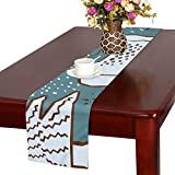 GGSXD テーブルランナー 面白い 鹿 クロス 食卓カバー 麻綿製 欧米 おしゃれ 16 Inch X 72 Inch (40cm X 182cm) キッチン ダイニング ホーム デコレーション モダン リビング 洗える