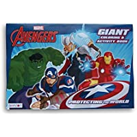 Avengers Giant Coloring Book and 2アベンジャーズお気に入りブックtoカラープラス24 ct Crayolaクレヨンand 10 ct Crayolaマーカー