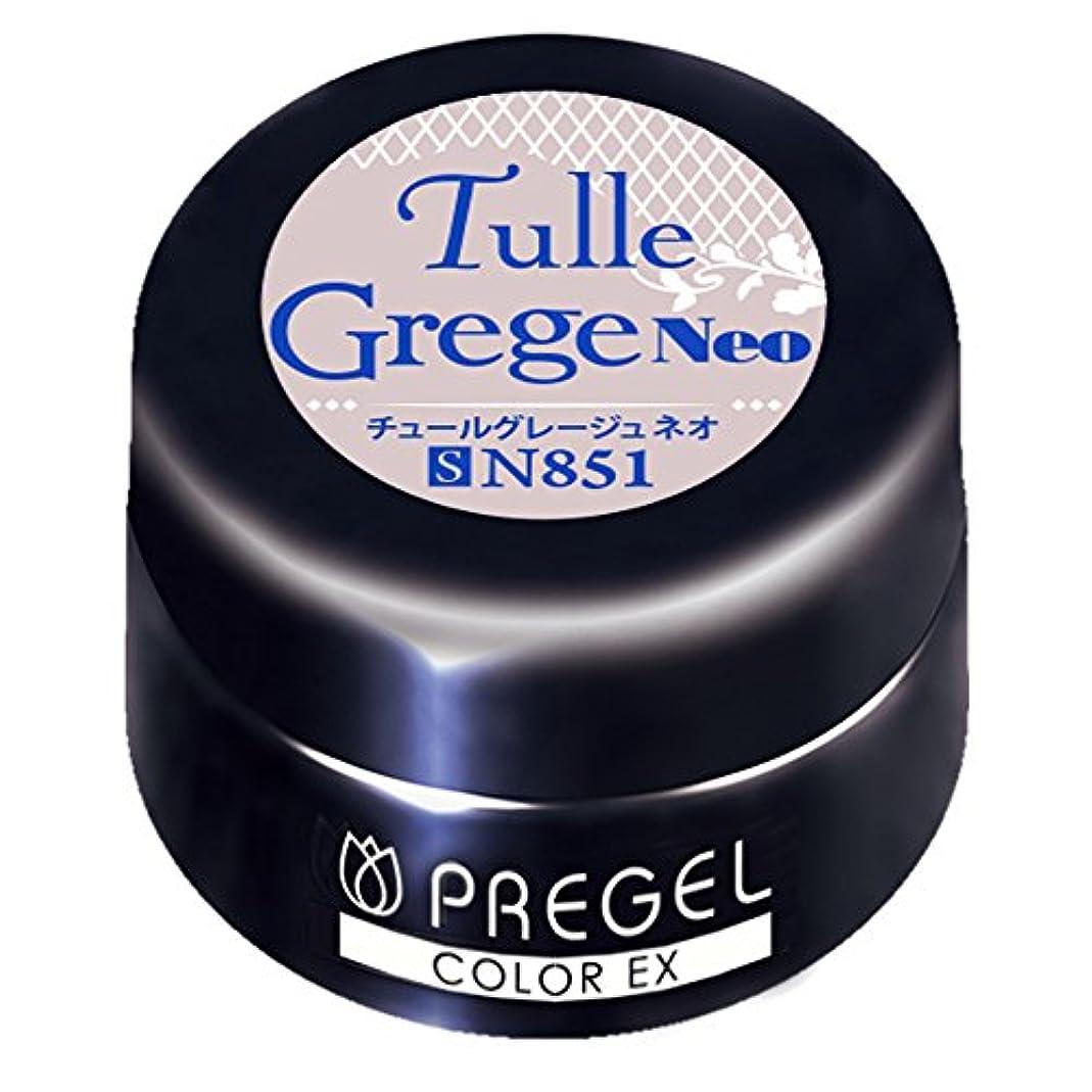 湿気の多い式開いたPRE GEL カラーEX チュールグレージュ neo 851 3g UV/LED対応