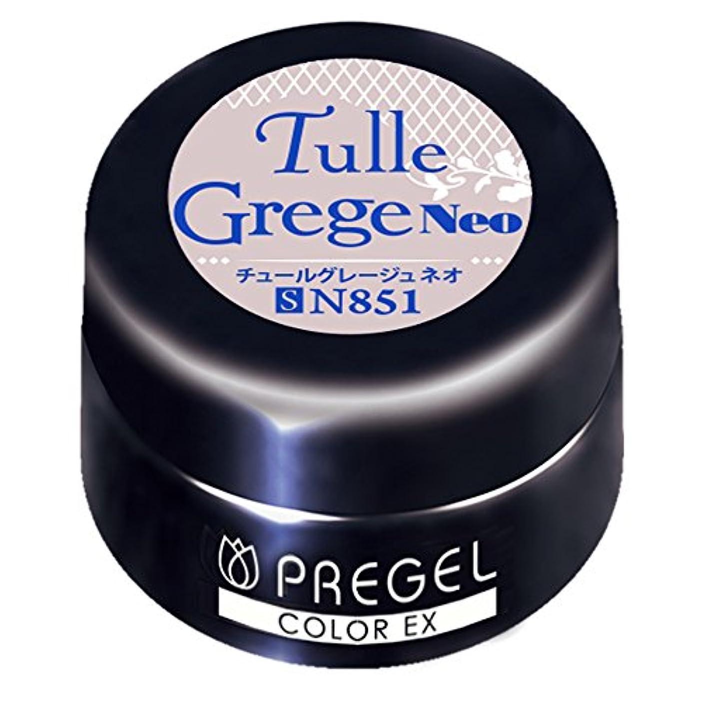 時間ヘビきゅうりPRE GEL カラーEX チュールグレージュ neo 851 3g UV/LED対応