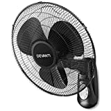 DEVANTi Oscillating Wall Fan Remote Control Timer Wall Mounted Air Cooler 40cm 16''