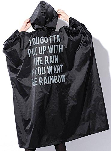 ブラック F (ジャックポート)JACK PORT おしゃれ 24柄 総柄 撥水加工 フード付き ジップアップ プルオーバー ポーチ付き レインポンチョ 自転車 雨用 雪用 防水 レインコート 男女兼用 トレンチ かぶる フード 収納バッグ付き 自転車用 レイン コート ポンチョタイプ ポンチョ 雨がっぱ 雨カッパ 雨具 カッパ レインウエア レインウェア メンズ レディース レディス 女性 男性 上下 大人 大人用 通勤 通勤用 ロング 女性 女子 男性 男子 レディス 大学生 人気 フリーサイズ おしゃれ 雨 スノー 雪 10代 20代 30代 40代 50代 春 夏 秋 冬 JK120129010001