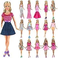 イーティーング (E-TING)  1/6 Doll ドール 人形 フィギュア 用 ファッション ミニドレス5 点セット 手作りショート パーティー ドレス
