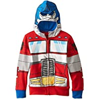 Transformers Optimus Prime Little Boys' Character Hoodie, Red