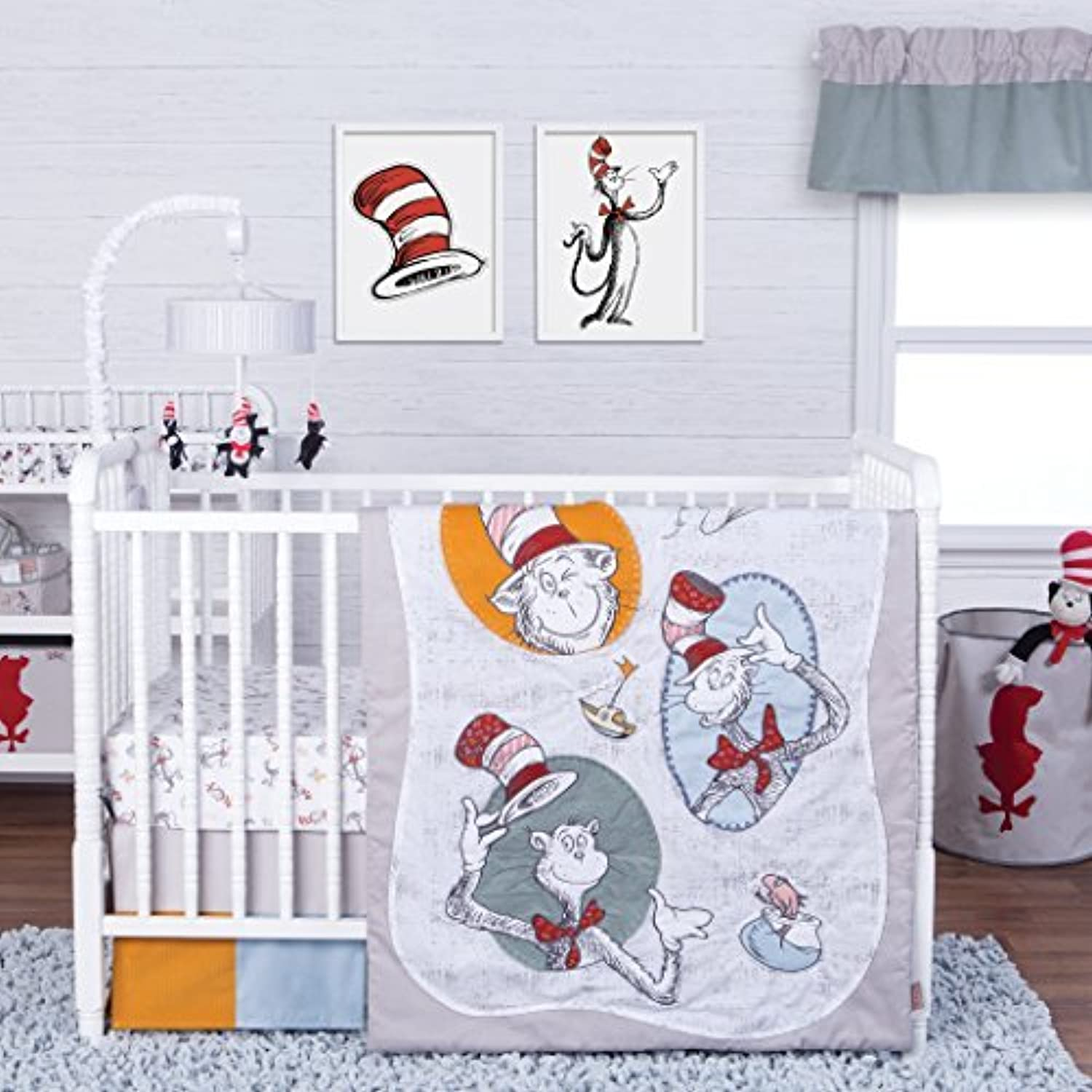 Trend Lab Dr. Seuss Classic Cat in the Hat 3 Piece Crib Bedding Set, Multi [並行輸入品]