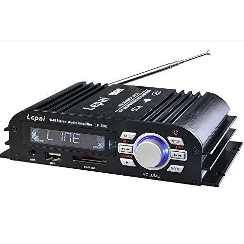 Eaglerich Lepy LP-600のHi-Fi USBのSDのMP3ミニFMオーディオ25W * 2アンプ