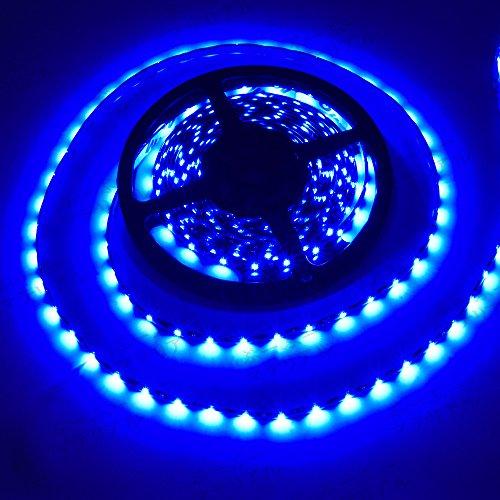 ぶーぶーマテリアル LEDテープ ブルー 青 300連 高輝度 5m 12V 黒ベース 防水 IP65 【カーパーツ】