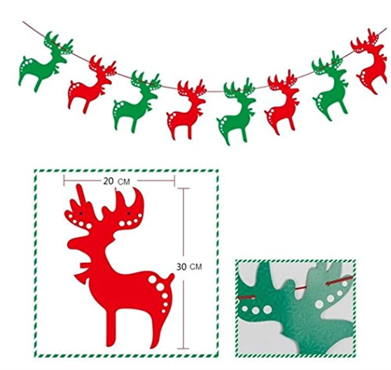 HuaQingPiJu-JP パーティーペンダントクリスマスデコレーションペンダントクリスマス用品(エルク)