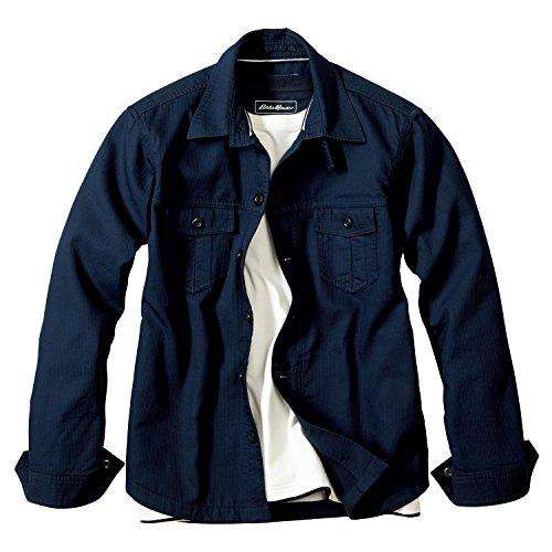 (エディー・バウアー) Eddie Bauer 長袖コードピケダブルクロスシャツジャケット(スプリグ XL)
