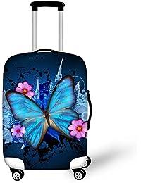 e13ebfafef Ledback ラゲッジカバー 防塵 防水 洗える 伸縮素材 目立つ 旅行 萌ちゃん suitcase cover キャリーカバー