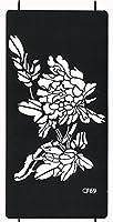 THE FANTASY ステンシルシート [3枚セット] シール ヘナタトゥー グリッタータトゥー 用 花 cf069