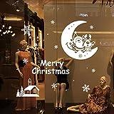 FEAST DAY クリスマス サンタクロース 月 ホワイト ウォールステッカー 壁飾り