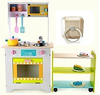 Green Toyコンビネーションキッチン、キッチン遊び、ままごと、木製ロールプレイ(海外直送品)