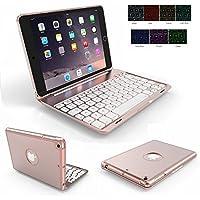iPad mini2/mini 3用 Bluetooth キーボードケース アルミ合金製 PCカバー ワイヤレス キーボード Macbookに変身