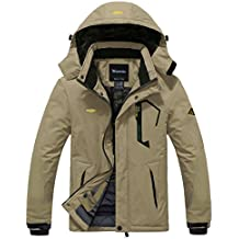 Wantdo Men's Winter Outdoor Windproof Waterproof Fleece Ski Jacket