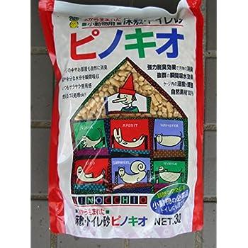 """スーパーキャット 小動物用 床敷き・トイレ砂 """"ピノキオ"""" 3L"""