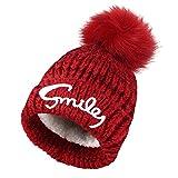 VBIGER 子供 暖かい帽子 ニット帽 キャップ 柔らか 男の子 女の子 かわいい 旅行用 スキー アウトドア (レッド)