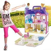 Tivolii DIY ドールハウス 家具付き ミニチュア ハウス ラグジュアリー シミュレーション ドールハウス 組み立て玩具 子供 誕生日 ギフト Tivolii