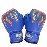 ボクシング グローブ 練習用 子供用 女性用 格闘技 ボクササイズ 男女兼用 3色 (青)