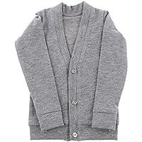 【ノーブランド 品】 BJD SD 人形 ボタンを備えた カーディガン セーター 服 ギフト グレー 全3サイズ