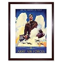 Ad War O'er Ramparts We Watch United States Army Framed Wall Art Print 戦争軍壁