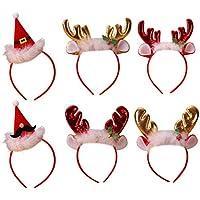 Fascigirl 6PCS Christmas Headband Party Headband Cute Cartoon Party Hair Hoop for Kids