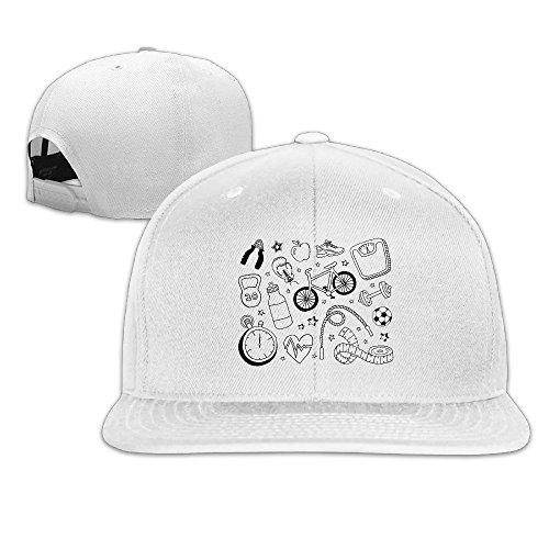 ティナ ローグ シンプル 平らつば 野球帽 キャップ シンプル スポーツ 男女兼用 調節可能 White