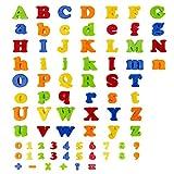 Best アルファベットのおもちゃ - Flycreat マグネットアルファベット 知育パズル 冷蔵庫用マグネット 数字と英語アルファベット DIY 知育玩具 英語単語 Review