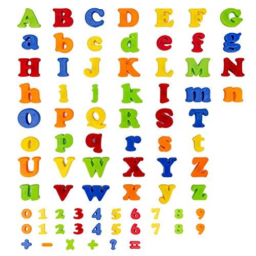 FlyCreat マグネットアルファベット 数字と英語アルフ...