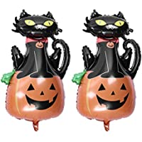 Tuankay アルミバルーン アルミ風船 ハロウイン カボチャ 猫 飾り付け 幼稚園 イベント 2個セット 5個セット