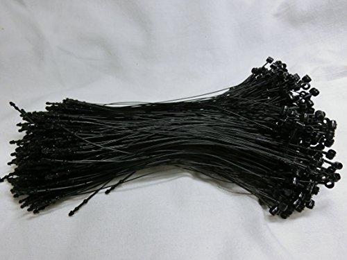 値札 付け に便利♪ タグファスナー ( ループピン ) 5000本セット ブラック (7 インチ)