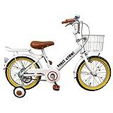 自転車 子供用 16インチ 男の子 女の子 子ども 幼児 幼児車 ジュニア キッズバイク 補助輪 かわいい おすすめ 【AJ-07】 【エンジェルホワイト】 記念日 誕生日 プレゼントに 自転車デビューならこれ!