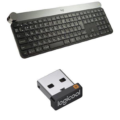 【Unifying レシーバー付き】 Logicool ロジクール KX1000s bluetooth ワイヤレスキーボード CRAFT マルチデバイス Windows,Mac対応 Adobe CC対応, FLOW機能対応