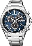 [シチズン]CITIZEN 腕時計 ATTESA アテッサ エコ・ドライブ電波時計 クロノグラフ AT3050-51L メンズ
